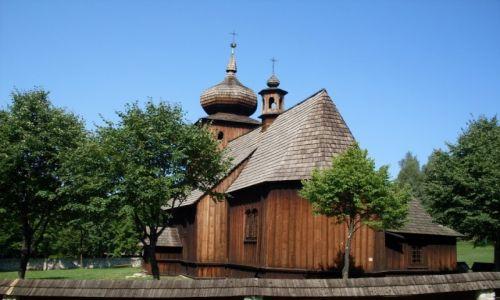 Zdjęcie POLSKA / województwo małopolskie / Nadwiślański Park Etnograficzny / Wygiełzów - kościół