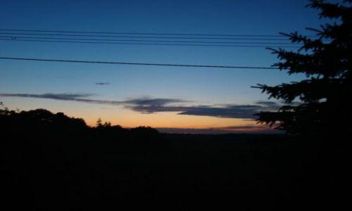 Zdjecie POLSKA / śląsk / koło cieszyna / po zachodzie z mojego okna