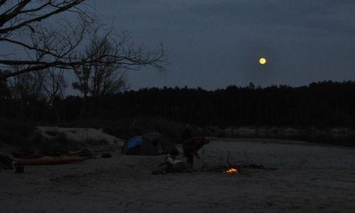 Zdjecie POLSKA / Mazowsze / gdzieś przed Brańszczykiem / Wieczór na wyspie