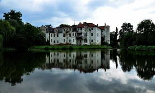 Zdjęcie POLSKA / Dolny Śląsk / Dobrocin / Pałac nad wodą