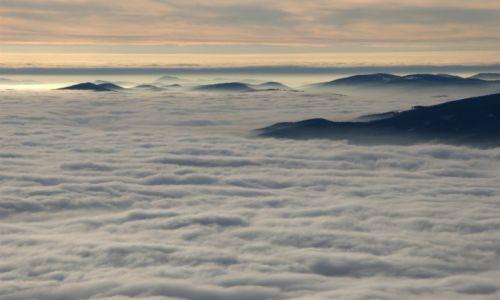 Zdjecie POLSKA / Babiogórski Park Narodowy / Babia Góra / Orawa w oceanie chmur