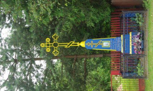 Zdjęcie POLSKA / Podlasie / Narew / przydrożny krzyż