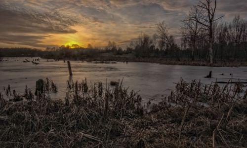Zdjecie POLSKA / Kaszuby / okolice Żukowa / po zachodzie słońca