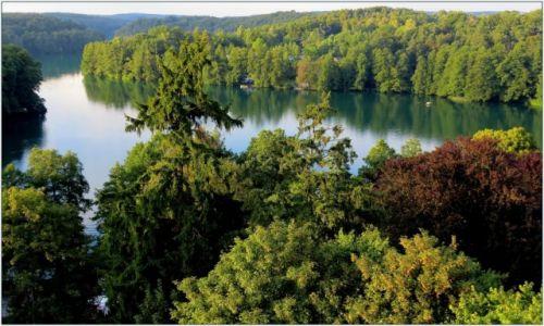 Zdjecie POLSKA / Lubuskie / �ag�w Lubuski, Jezioro Trze�niowskie /  kajak i czas w