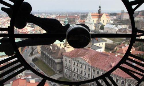 Zdjęcie POLSKA / Podkarpackie / Przemyśl / Pejzaż z zegarem