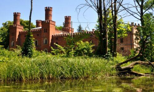 Zdjęcie POLSKA / Sorkwity / rzeka Krutynia / Widok z rzeki na pałac von Mirbachów