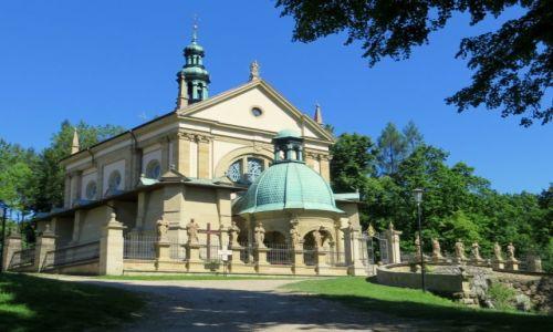 Zdjecie POLSKA / Małopolska / Brody, kościół Wniebowzięcia NMP  / pośród zieleni...