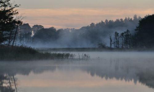 Zdjęcie POLSKA / Mazury / Jezioro Białe / Świt nad Jeziorem Białym