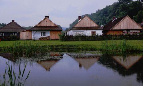 Zdjęcie POLSKA / Podkarpackie / Muzeum Budownictwa Ludowego w Sanoku / W deszczu