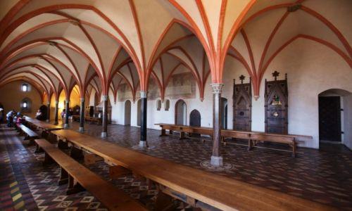 Zdjęcie POLSKA / Malbork / Gotycki zamek krzyżacki / Refektarz Konwentu