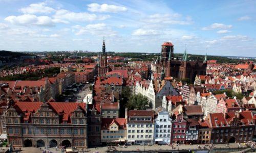 Zdjecie POLSKA / Pomorskie / Gdańsk / Gdańsk prawie z lotu ptaka