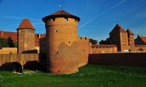Zdjęcie POLSKA / Pomorze / Malbork / Mury