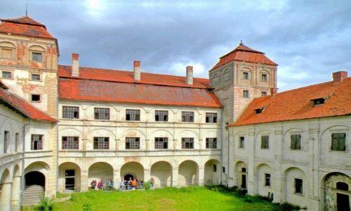 Zdjęcie POLSKA / Opolskie / Niemodlin / Dziedziniec zamku