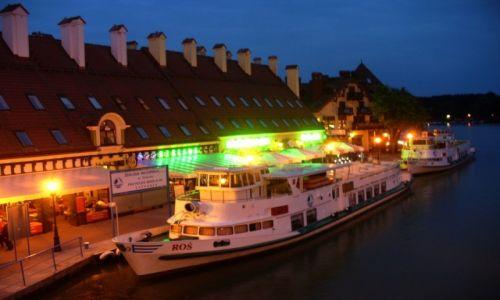 Zdjęcie POLSKA / Warmia-Mazury / Mikołajki / Port nocą
