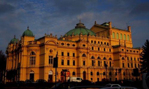 Zdjęcie POLSKA / Małopolska / Kraków, Teatr im. Juliusza Słowackiego / listopadowy zmierzch...