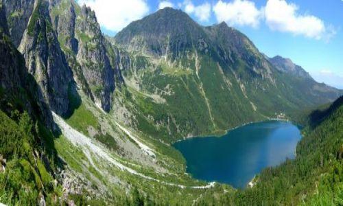 Zdjecie POLSKA / Tatry / Tatry wysokie / panorama na Morskie Oko i okolice
