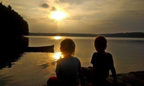 Zdjęcie POLSKA / Kaszuby / Jezioro Mausz / przyjaźń