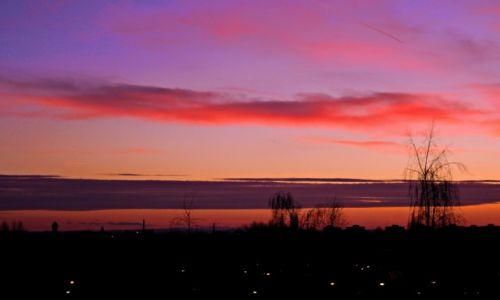 Zdjęcie POLSKA / śląskie / Sosnowiec / grudniowy zachód słońca