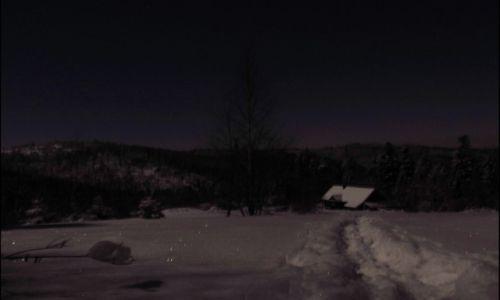 Zdjecie POLSKA / Beskid Mały / os. Zakocierz / Mroźna, księżycowa noc