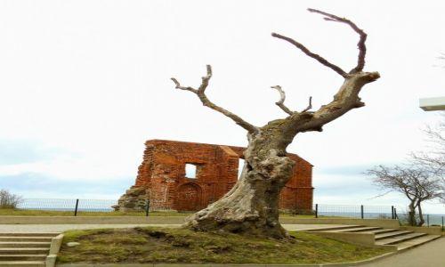 POLSKA / zachodniopomorskie / Trzęsacz / Ruiny kościółka z ok. 1250 r