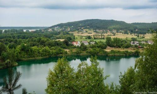 Zdjecie POLSKA / Zachodniopomorskie / Wapnica / Jezioro Turkusowe widziane z punktu widokowego