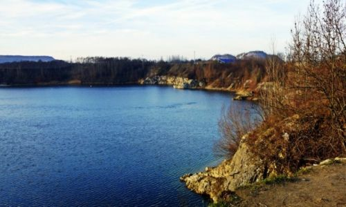 Zdjecie POLSKA / Kuj-pom / Piechcin / Kamieniołom w zimowym słońcu