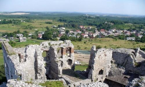 Zdjęcie POLSKA / śląskie / Ogrodzieniec / Fragmenty murów i krajobraz okolicy