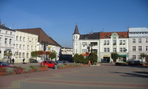 Zdjecie POLSKA / opolskie / Krapkowice / Fragment rynku