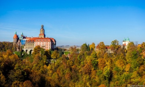 Zdjecie POLSKA / Dolnośląskie / Wałbrzych / Punkt widokowy na Zamek Książ