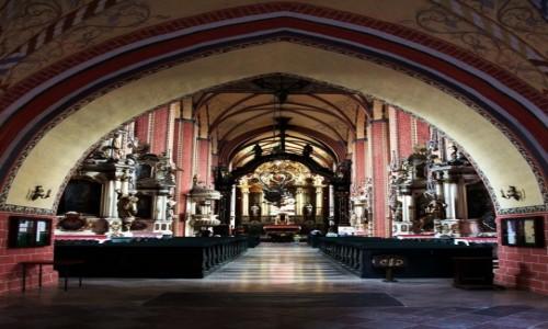 Zdjęcie POLSKA / Chełmno / Kościół Wniebowzięcia NMP / Nawa Główna, ołtarz