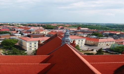 Zdjęcie POLSKA / Chełmno / Kościół Wniebowzięcia NMP / Panorama z dachem