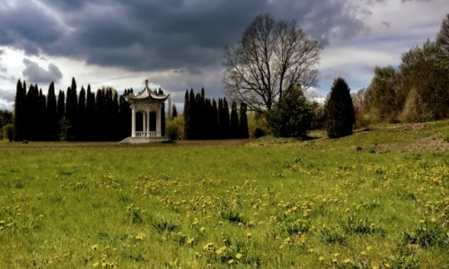Zdjęcie POLSKA / mazowsze / Powsin-ogród botaniczny / altana