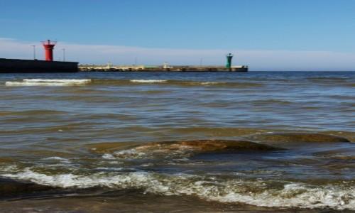 Zdjęcie POLSKA / Pomorskie / Łeba / Wejście do portu