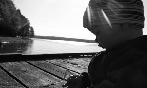 Zdjęcie POLSKA / Kaszuby / Nad jeziorem Mausz / Odkrywanie