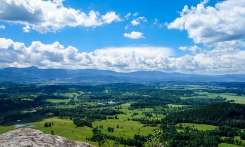 Zdjecie POLSKA / Dolnośląskie / Rudawski Park Krajobrazowy / Widok z Krzyżnej Góry