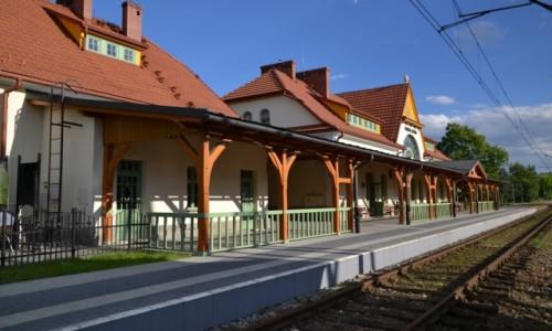 POLSKA / Wojew�dztwo ma�opolskie / Rabka - Zdr�j / Dworzec kolejowy