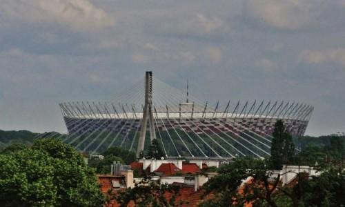 POLSKA / Mazowsze / Warszawa / Warszawa, widok ze starego miasta na stadion narodowy