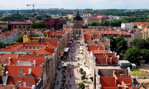Zdjecie POLSKA / Pomorze / Gdańsk / z ratuszowej wieży...