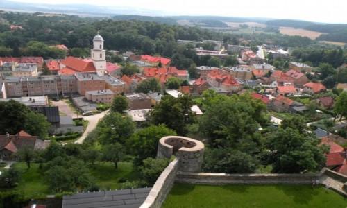 POLSKA / dolno�l�skie / Bolk�w / Widok na miasto z wie�y zamkowej