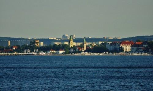 POLSKA / Kaszuby / Gdynia / Gdynia, Or�owo, widok na Sopot