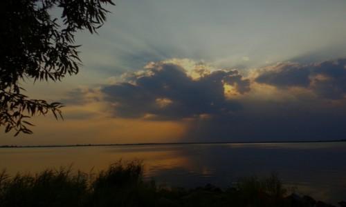 POLSKA / elbląskie / Nadbrzeże ( zalew wiślany ) / zachód  słońca...