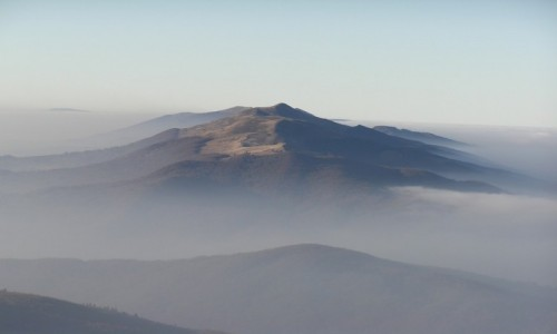Zdjecie POLSKA / Bieszczady / widok z Bukowego Berda / Bieszczady ponad chmurami