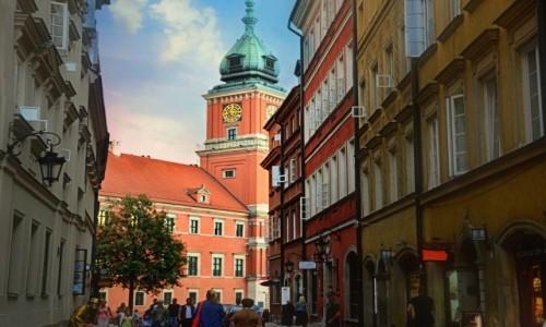 Zdjęcie POLSKA / - / Warszawa / Z widokiem na zamek