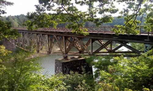 Zdjecie POLSKA / Dolny Śląsk / Pilchowice / Most kolejowy nad jeziorem pilchowickim