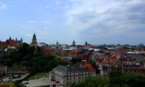 Zdjęcie POLSKA / lubelskie  / Lublin / - widok na miasto z wieży zamkowej -