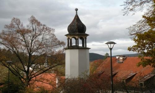 Zdjęcie POLSKA / dolnoślaskie / Lądek Zdrój / Wieżyczka zegarowa .