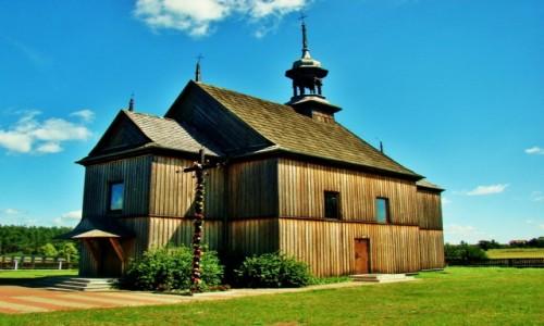 Zdjęcie POLSKA / województwo łódzkie / Twarda,Zalew Sulejowski / Twarda-drewniany kościół pw.św.Wacława z 1781 roku