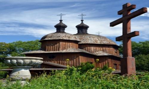 Zdjecie POLSKA / Lubelskie / Muzeum Wsi Lubelskiej / Greckokatolicki zespół sakralny z cerkwią z Tarnoszyna 1759 r