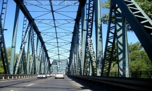 Zdjęcie POLSKA / kujawsko pomorskie / Toruń / Konstrukcja mostu drogowego.