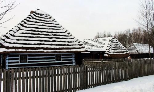 POLSKA / Podkarpacie / Kolbuszowa/Park Etnograficzny / W bieli